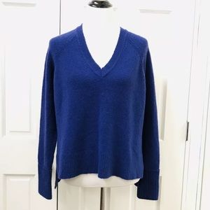 J Crew V-Neck Sweater Merino Wool Blend Supersoft